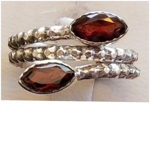 2ct Garnet Wrap Ring Size 8